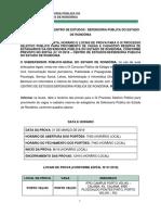 Edital 06 - Data e Local de Prova