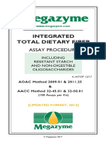 Integrated Total Dietary Fiber (K-Intdf)_megazyme