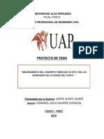 Proyecto Mejoramiento de Concreto Formato Tesis