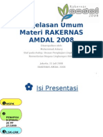 Rakernas AMDAL 2008 - Penjelasan Umum Diskusi Kelompok - Muhammad Askary