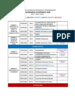 EDyP - Calendario Académico Ciclo 1 Marzo