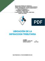TRABAJO DE UBICACION DE LA INFRACCION TRIBUTARIA.docx