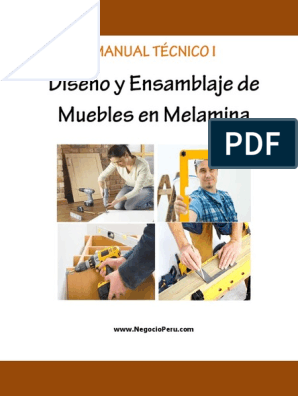 Manual 1 Melamina Version6 Pro Pdf Tornillo Madera
