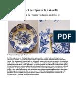 Le Kintsugi, l'Art de Réparer La Vaisselle