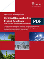 Certified Renewable Energy Project Developer