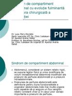 Sindromul de Compartiment Abdominal