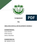 ORGANIZATIONAL DEVELOPMENT MODELS.docx