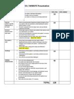 author study presentation score sheet