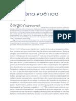 Raimondi, Sergio - [Artículo] Para Una Poética