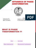 Thermodynamics of Phase Transformation