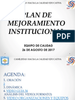 Plan de Mejoramiento Institucional Taller