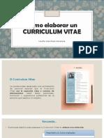 Como Elaborar Un Curriculum Vitae