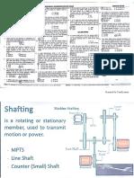 Shaftings, Keys & Couplings