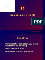 Oracle - Including Constraints