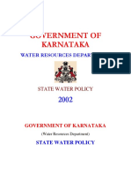 Karnataka State Water Policy