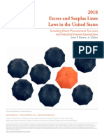 Excess and Surplus Lines Laws in the United States - 2018.pdf