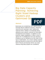 Big Data Capacity Planning