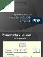 Clase Procedimientos y Funciones