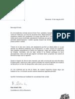 Carta d'Elsa Artadi a Ernest Maragall