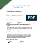 Hoja de Información Para El Análisis de Los Puestos de Trabajo JM