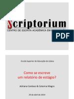 Como se escreve um relatório de estágio.pdf