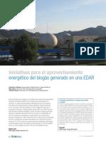 Iniciativas para el aprovechamiento energético del biogás generado en una EDAR