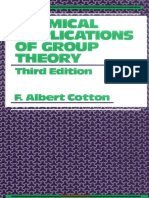 Chemical Applications of Group Theory 3rd Edition