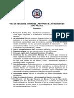 Visa NM1 Zona Franca