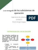 Estrategias de Los Subsistemas de Operacion 2