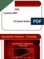 Fundamentals of Algorithms - CS502 Power Point Slides Lecture 07