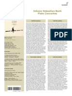 J.S. Bach Flute Concerto in B Minor Reco