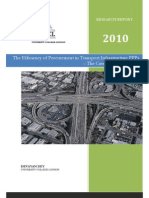 Abridged version of research report on UK highway PPPs