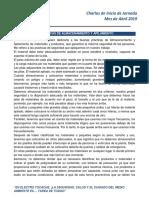 Charla Inicio de Jornada - E.T ABRIL 2019