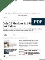 Zeeshan Shaikh Only 22 Muslims in 16th Lok Sabha