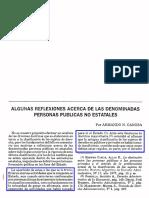 Canosa, Armando N. - Algunas Reflexiones Acerca de Las Denominadas Personas Públicas No Estatales