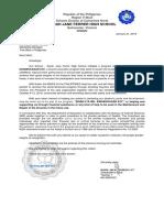 Letter for TREK Bikes Philippines