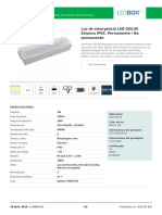 Luz de Emergencia LED GOLUX Estanca IP65, Permanente _ No Permanente