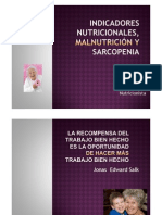 Indicadores Nutricionales, malnutrición y sacopenia [Modo de compatibilidad]