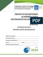 Primera Prueba de Avance de Estudios Sociales-Segundo Año de Bachillerato 2019