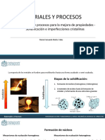 Sesion 11 - Solidificación e Imperfecciones Cristalinas (1)