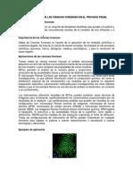 IMPORTANCIA DE LAS CIENCIAS FORENSES EN EL PROCESO PENAL.docx