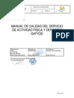 Manual de Calidad de los servicios deportivos de calidad
