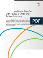 f5 White Paper Simplifying Single Sign on With f5 Big Ip Apm and Active Directory