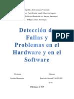 Detección de Fallas y Problemas en El Hardware y en El Software