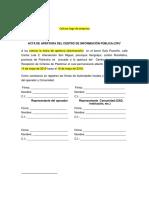 Gad Formato Acta Apertura Cierre Centro Informacion Publica PLASTIMAC
