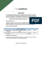 Gad Formato Convocatoria AUTOFENIX