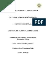 Control Partículas Primarias