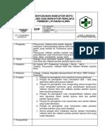359101807 9 1 2 3 Sop Penyusunan Indikator Mutu Klinis Dan Indikator Perilaku Pemberi Layanan Klinis