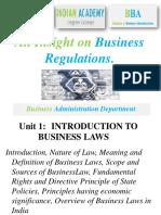 BUSNIESS REGULATIONS BBA 3RD SEM UNIT 1-1.pptx