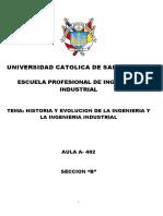 Historia y Evolucion de La Ingenieria y La Ingenieria Industrial